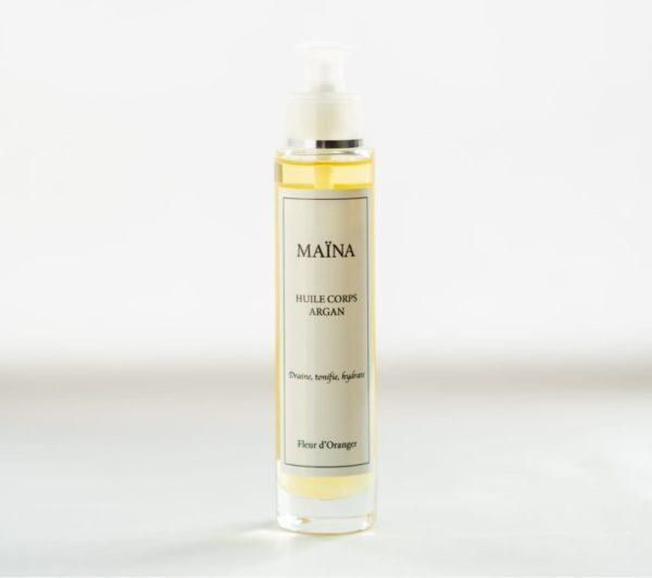 huile corps argan